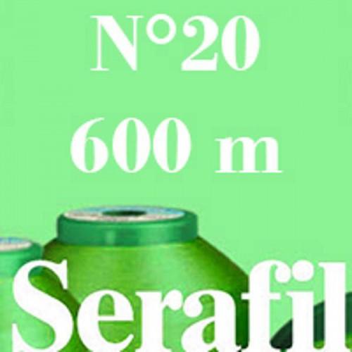 Boite de 5 cônes de fil à coudre Serafil n°20 bobine de 600 ml