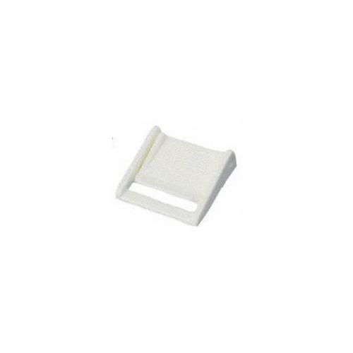 Boucle à pincement blanche pour sangle de 25 mm