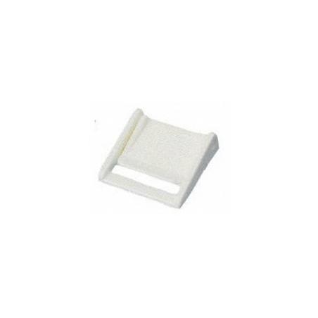 Boucle à pincement 25 mm blanche YKK