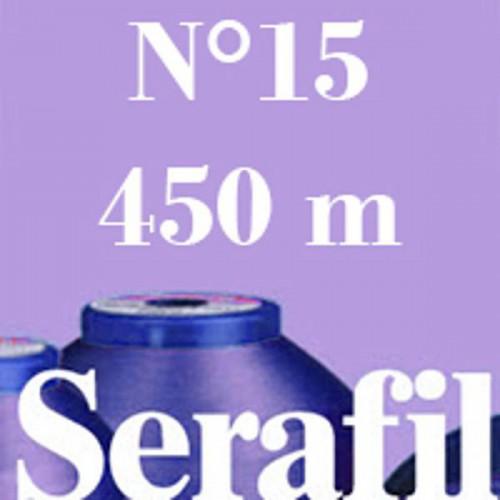 Boite de 5 cônes de fil à coudre Serafil n°15 bobine de 450 ml