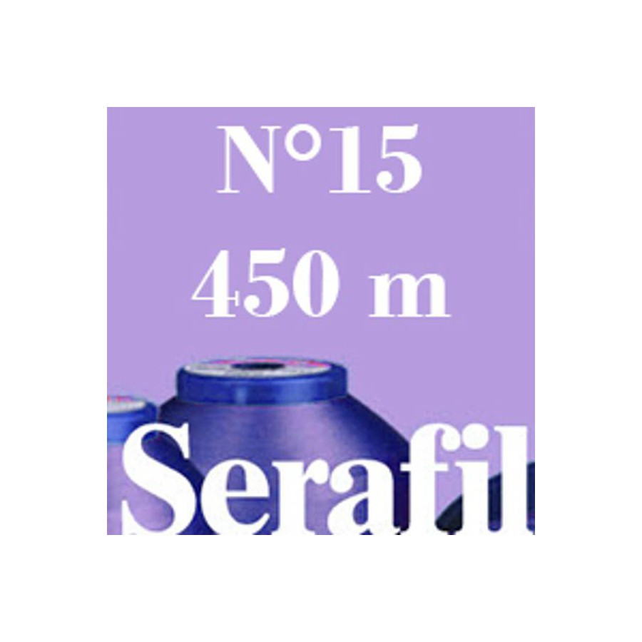 Box of 5 Sewing thread Serafil n°15 spool of 450 ml