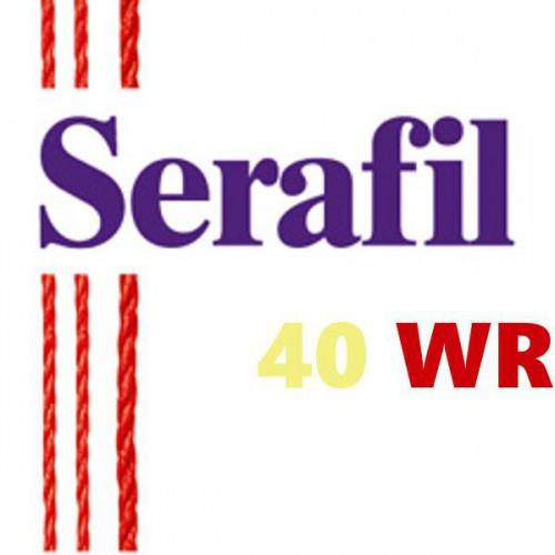 Boite de 5 cônes de fil à coudre Hydrofuge Serafil n°40WR bobine de 1200 ml