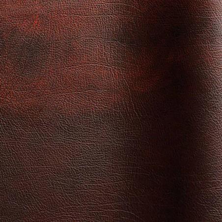Bovine leather pigmented Rub-off lie de vin color