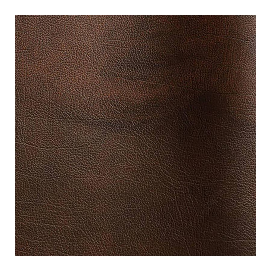 Bovine leather pigmented Rub-off brown color
