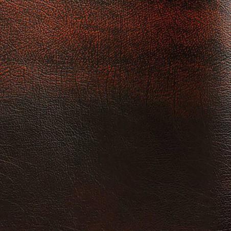 Bovine leather pigmented Rub-off rouille color