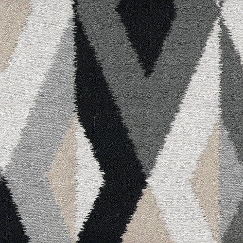 Jacquard Batik Fabric Chanée Ducrocq Deschemaker - Réglisse 103961