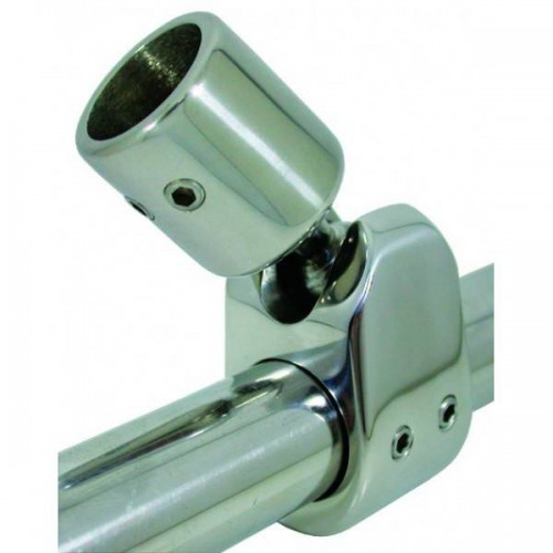 Stainless steel ball-and-socket fixing with pin