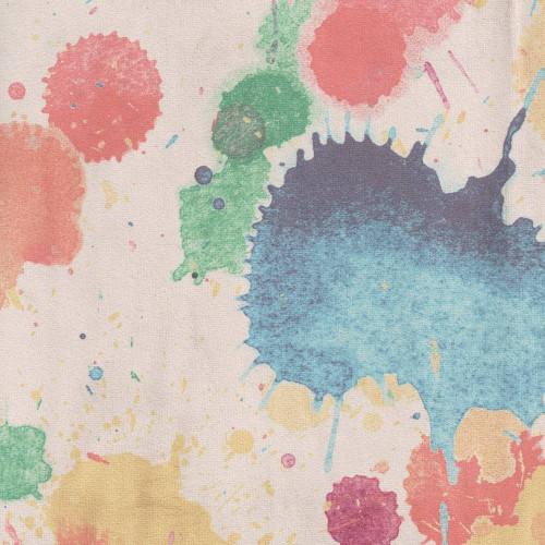 Tissu imprimé Splash Chanée Ducrocq Deschemaker - Multicolore 3098