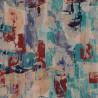 Tissu imprimé Munich Chanée Ducrocq Deschemaker - Turquoise 3101