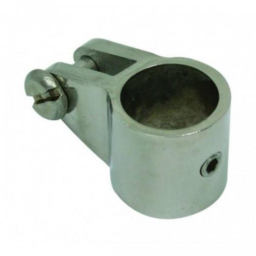 Collier fermé inox pour tube avec vis de blocage diamètre 19 mm