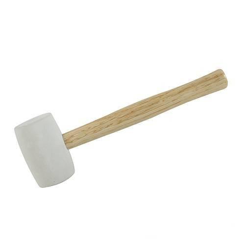 White semi-hard rubber mallet