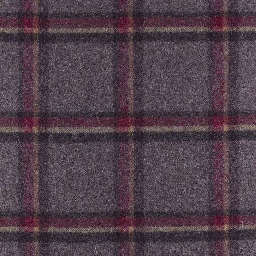 Tissu laine vierge Cracoe référence U1410-AB13-Amethyst de Abraham Moon & Sons