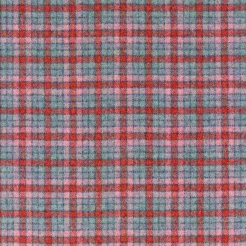 Tissu laine vierge Berlin référence U1503_P13-Aqua_Flamingo de Abraham Moon & Sons