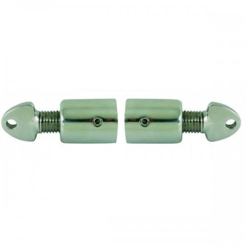 Embout de tube réglable externe tout inox moulé diamètre 22 mm