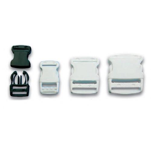 Boucle clips plastique pour sangles