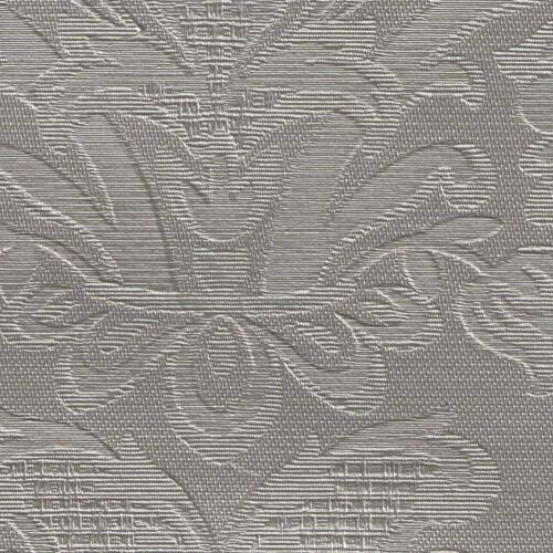 Simili Cuir motif floral VICTORIA M2 - coloris Acier