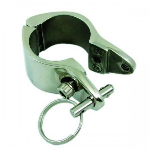 Collier à charnière et goupille inox pour tube de diamètre 22.4 mm