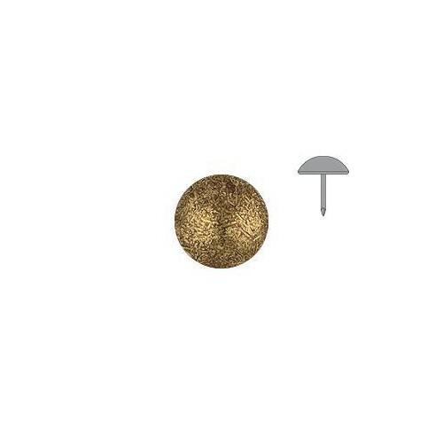 Clou tapissier perle fer Or vieilli à la pièce diamètre 6.5 mm