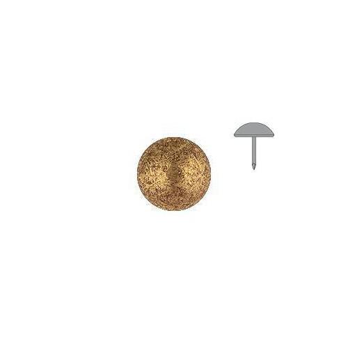 Clou tapissier perle fer Or vieilli clair à la pièce diamètre 11 mm