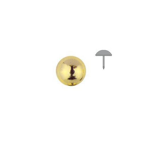 Clou tapissier perle fer Laiton à la pièce diamètre 11 mm