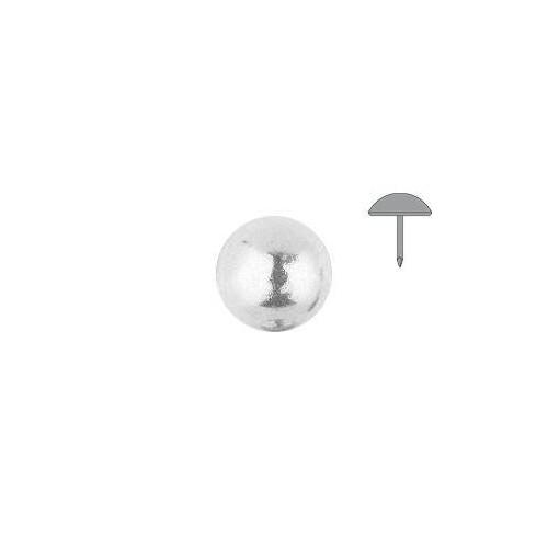 Clou tapissier vernis perle fer Blanc à la pièce diamètre 11 mm