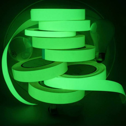 Glowfast adhesive strip phosphorescent tape