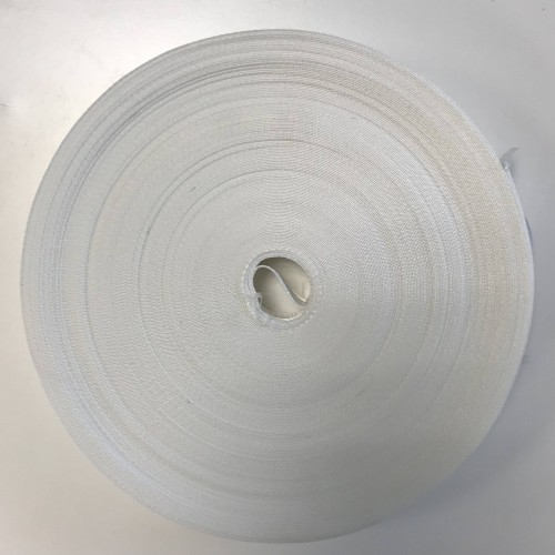 Sangle polyester forte blanche largeur 25 mm