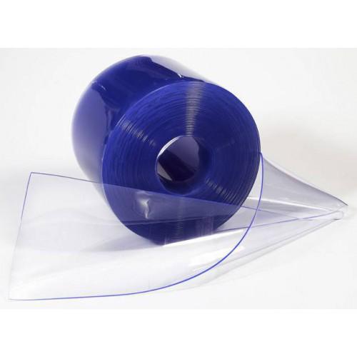 Rouleau de 50 mètres de lanière rideau pvc plastique cristal souple transparent largeur 10 cm