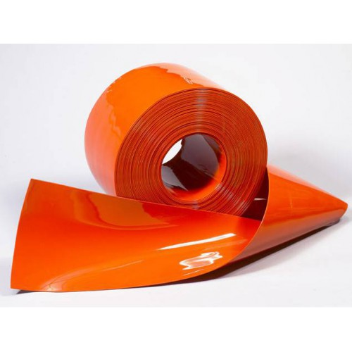 Roll of 50 meters of Flexible PVC cristal clear plastic curtain strip opaque colour by metre