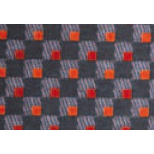 Wool velvet fabric for bus Damia model - Red