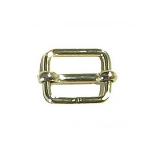 Boucle à barrette soudée en acier nickelé disponible en plusieurs dimensions