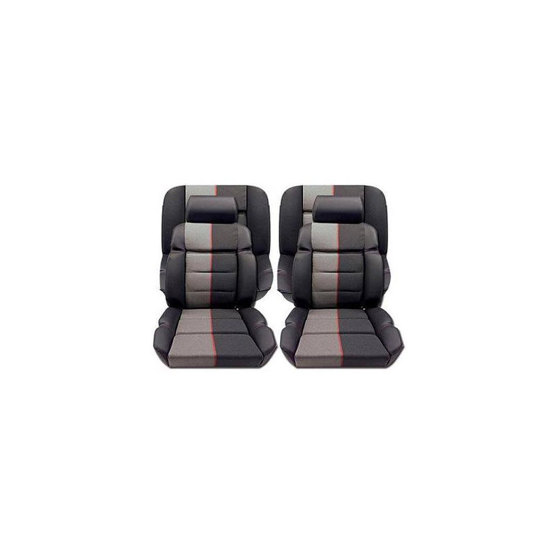 housse coiffe tissu ramier et cuir pour peugeot 205 gti et. Black Bedroom Furniture Sets. Home Design Ideas