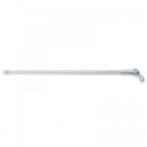 Lance-rideau en acier blanc longueur 150 cm