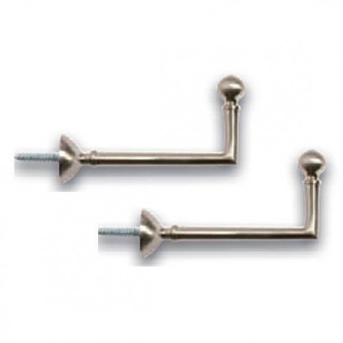 Pair of Hinges Ball Nickel mat for curtains, length 80 mm