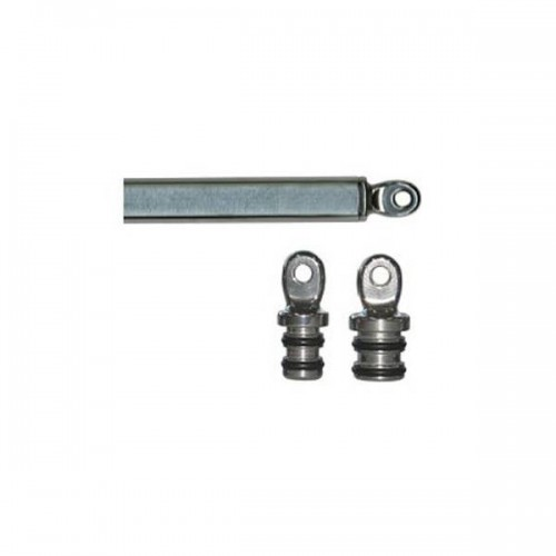 Stainless steel and plastic tube end