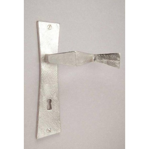 Bronze plate on door handle Cubist - Bronze nickel