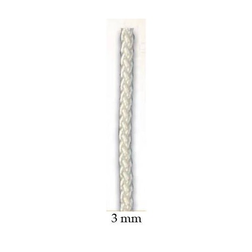 Halyard white polyester 3 mm