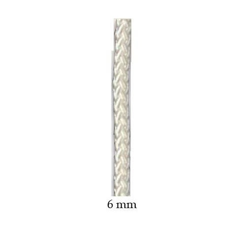 Halyard white polyester 6 mm