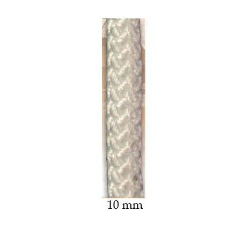 Drisse polyester blanc 10 mm