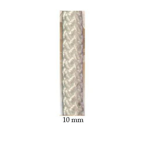 Drisse polyester blanc 10 mm