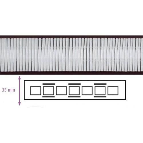 Ruban fronceur blanc 35 mm 2 cordons à amplitude variable