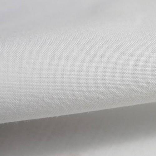 Satinette Polycoton grande largeur 280 cm de Houlès coloris Blanc gris 11280_9001