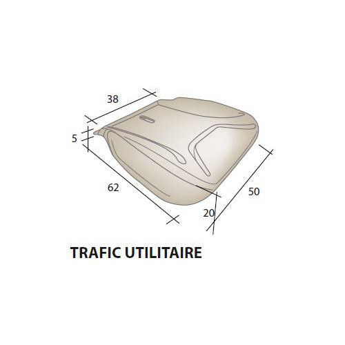 Assise mousse siège RENAULT Trafic utilitaire