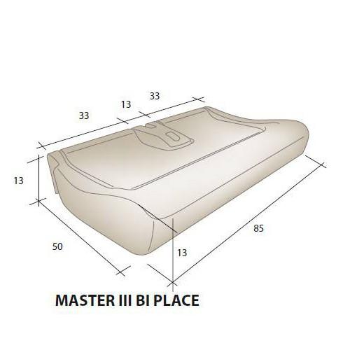 Assise mousse siège RENAULT Master 3 Bi place