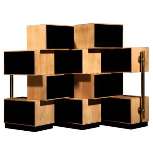 wood rack f lix monge. Black Bedroom Furniture Sets. Home Design Ideas