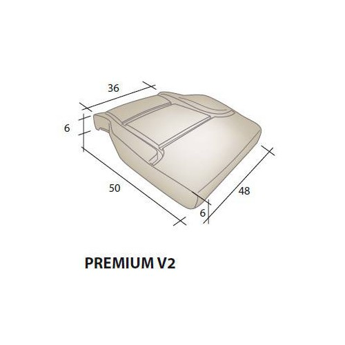 Mousse d'assise siège RENAULT Premium V2
