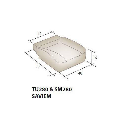 Mousse d'assise siège SAVIEM TU250 & SM280