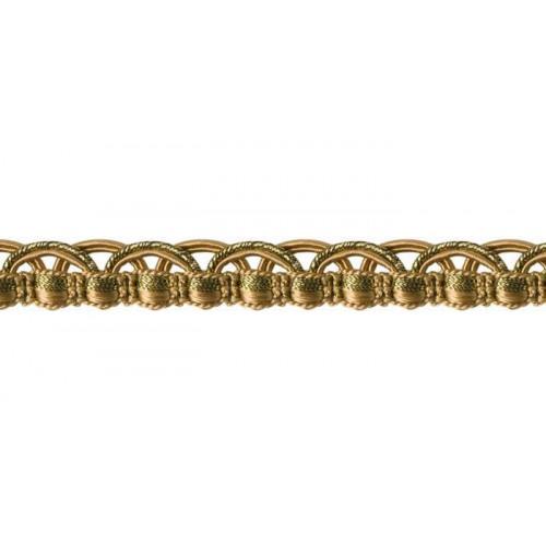 Lézarde 14 mm collection Scarlett metal de Houlès coloris Beige doré 31312-9125