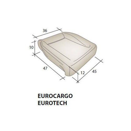 Mousse d'assise siège IVECO Eurocargo Eurotech