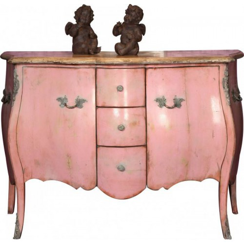 Chest curved 2 doors Marie Antoinette - Labarère